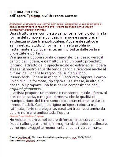 lettura critica all' opera di Franco Cortese