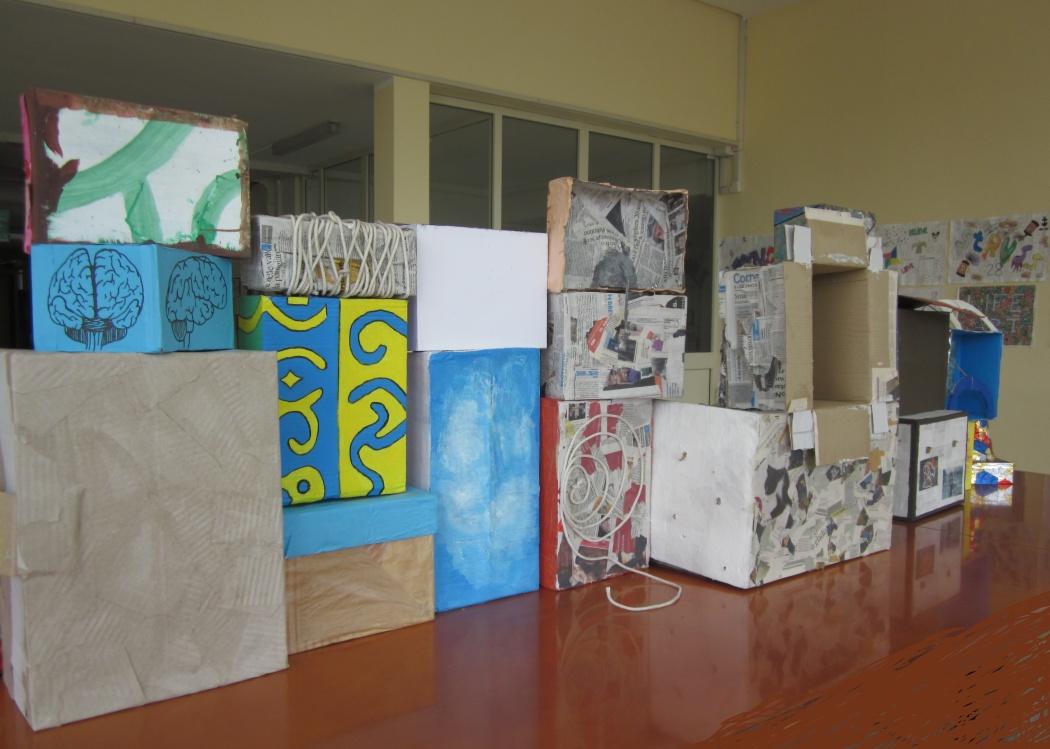 Installazione (particolare retro) - DIALOGO ATTORNO ALL' OPERA DI FABIO MAURI, Il Muro del Pianto